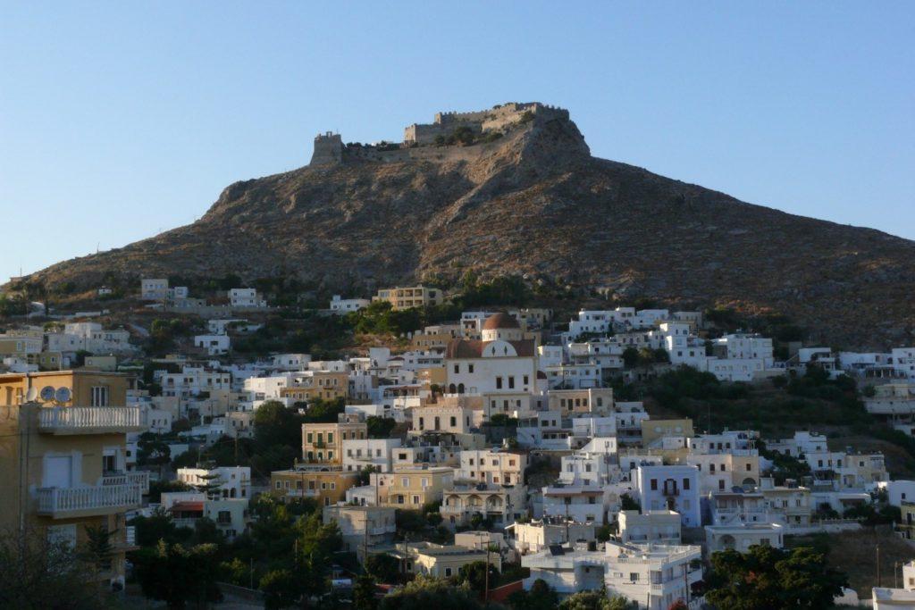 Остров Лерос, вид на замок рыцарей иоаннитов