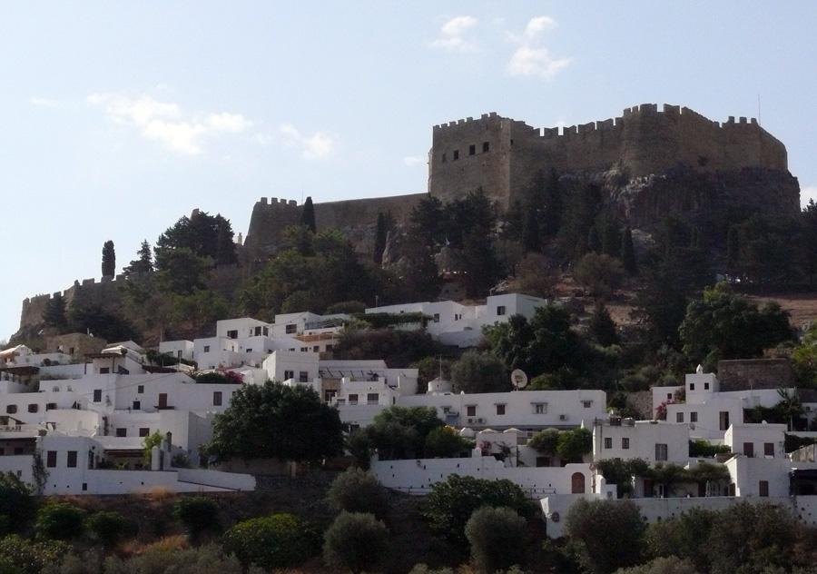 Линдос, вид на замок
