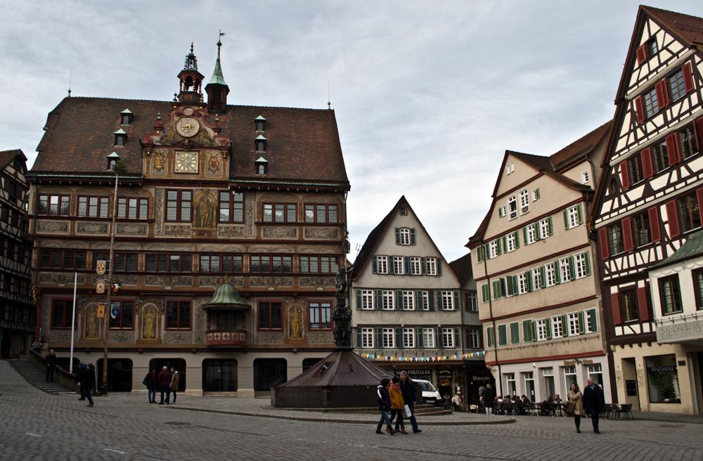 Тюбинген, ратушная площадь