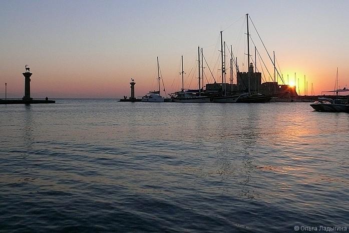Восход на Родосе
